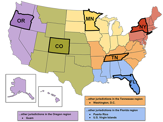 CDC Map of CoEs